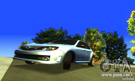 Subaru Impresa WRX STI 2008 pour GTA San Andreas vue arrière