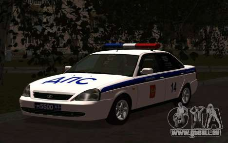 LADA 2170 Police pour GTA San Andreas