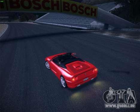 Ferrari F355 Spyder für GTA San Andreas Innenansicht