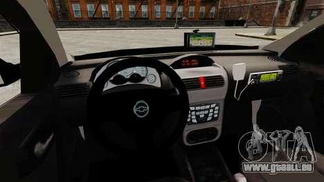 Chevrolet Corsa 2012 PMESP ELS für GTA 4 Innenansicht