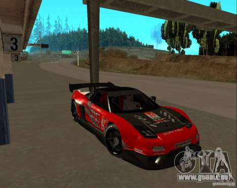 Acura NSX Sumiyaka pour GTA San Andreas vue arrière