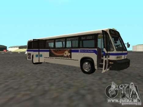 GMC RTS MTA New York City Bus pour GTA San Andreas sur la vue arrière gauche