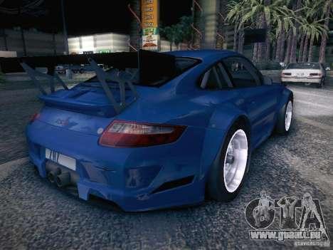 Porsche 997 GT3 RSR für GTA San Andreas zurück linke Ansicht