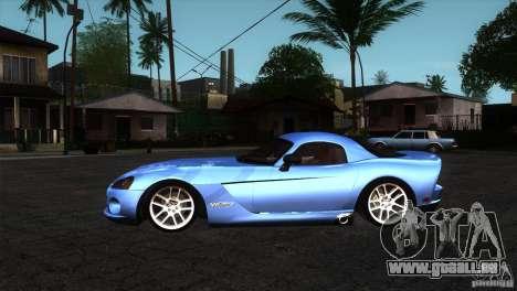 Dodge Viper SRT10 Stock pour GTA San Andreas laissé vue