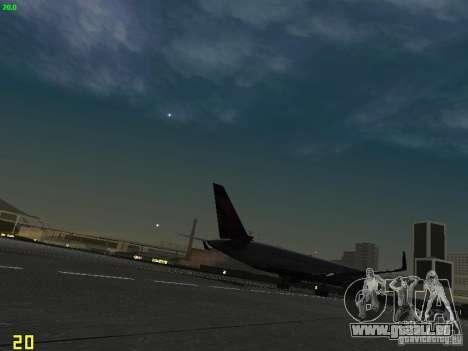 Boeing 767-400ER Delta Airlines pour GTA San Andreas vue de droite
