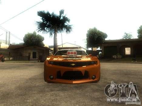 Chevrolet Camaro SS Dark Custom Tuning pour GTA San Andreas vue de droite