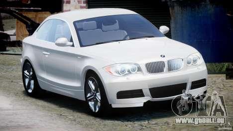 BMW 135i Coupe 2009 [Final] pour GTA 4 Vue arrière