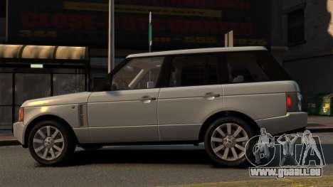 Range Rover Supercharged pour GTA 4 est une gauche