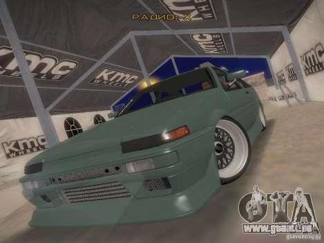 Toyota Sprinter Trueno AE86 für GTA San Andreas Rückansicht