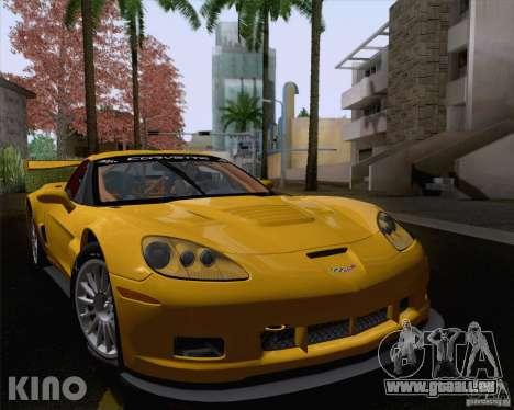 Chevrolet Corvette C6 Z06R GT3 v1.0.1 pour GTA San Andreas vue arrière