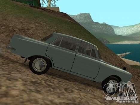 IZH 412 Moskvich pour GTA San Andreas vue arrière