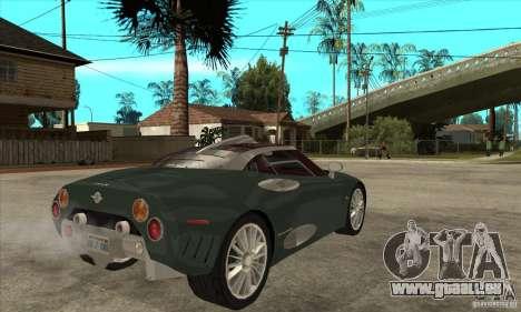Spyker C8 Laviolete pour GTA San Andreas vue de droite