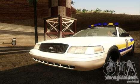 Ford Crown Victoria Puerto Rico Police pour GTA San Andreas