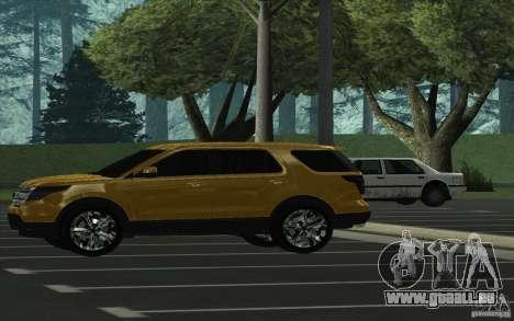 Ford Explorer Limited 2013 pour GTA San Andreas laissé vue