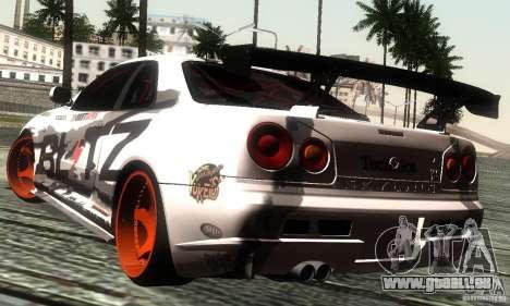Nissan Skyline R34 Blitz pour GTA San Andreas laissé vue
