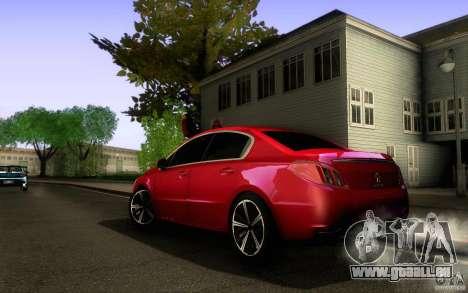 Peugeot 508 2011 pour GTA San Andreas vue de dessus