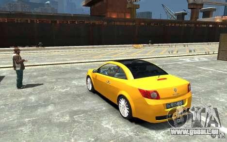 Renault Megane CC Kit RS für GTA 4 hinten links Ansicht
