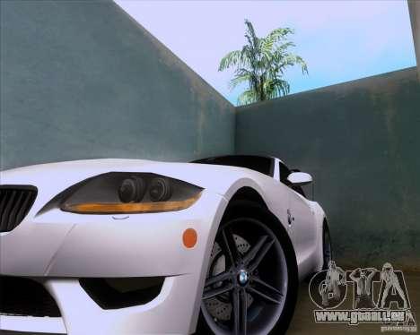 BMW Z4 M Coupe pour GTA San Andreas vue intérieure