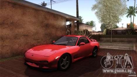 Mazda RX-7 FD 1991 pour GTA San Andreas vue de dessous