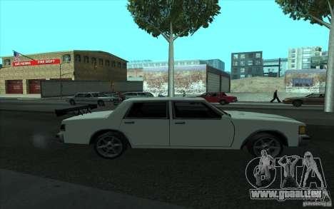 Civilian Police Car LV pour GTA San Andreas vue de dessous