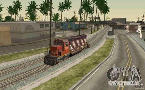 CN SD40 ZEBRA STRIPES pour GTA San Andreas vue intérieure
