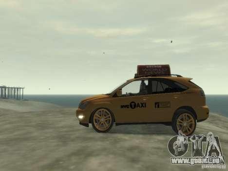 Lexus RX400 New York Taxi pour GTA 4 Vue arrière