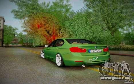 BMW 3 Series F30 Stanced 2012 für GTA San Andreas zurück linke Ansicht