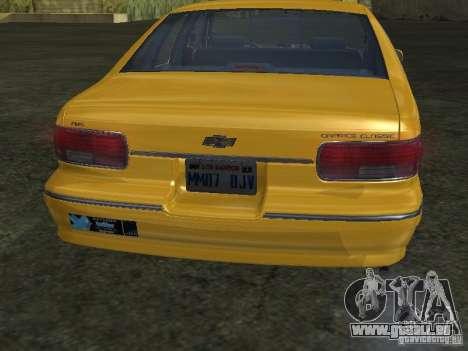 Chevrolet Caprice 1993 Taxi für GTA San Andreas rechten Ansicht