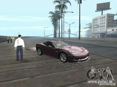 Chevrolet Corvette Grand Sport 2010 pour GTA San Andreas vue de droite