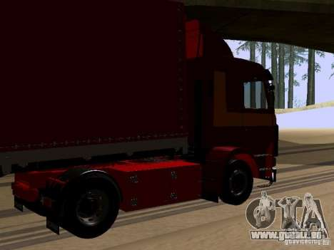 Scania 143M pour GTA San Andreas sur la vue arrière gauche
