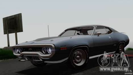 Plymouth GTX 426 HEMI 1971 pour GTA San Andreas salon