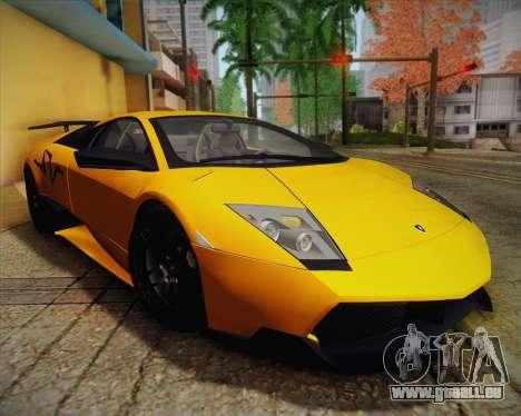 Lamborghini Murcielago LP 670/4 SV Fixed Version pour GTA San Andreas vue intérieure