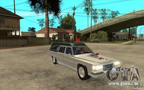 Cadillac Fleetwood 1985 Hearse Tuned für GTA San Andreas Rückansicht