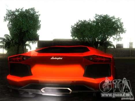 Lamborghini Aventador LP700 pour GTA San Andreas laissé vue