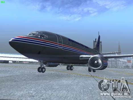 Boeing 737-500 für GTA San Andreas linke Ansicht