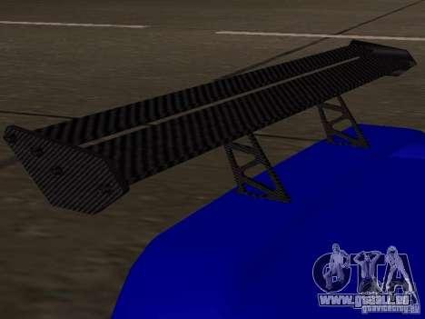 Infernus v 1.2 pour GTA San Andreas vue arrière