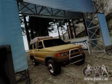 UAZ 2760 für GTA San Andreas zurück linke Ansicht