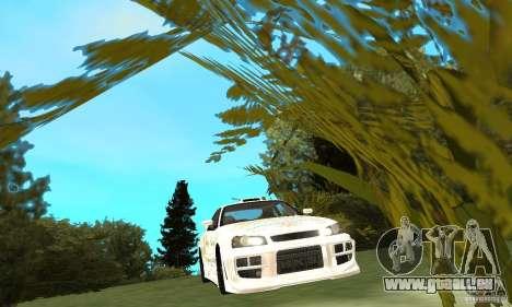 Nissan SkyLine R34 Tunable V2 pour GTA San Andreas vue intérieure