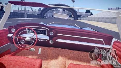 Cadillac Eldorado 1959 interior red pour GTA 4 est une vue de dessous