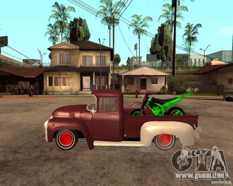 ZIL-130 feurig Tempe-Finale für GTA San Andreas linke Ansicht