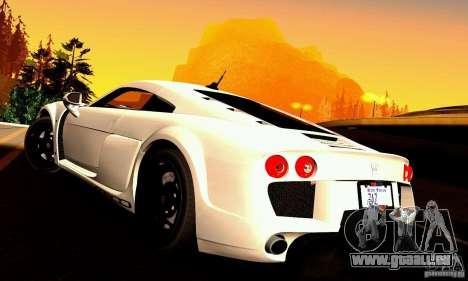 Noble M600 pour GTA San Andreas vue de dessus