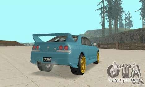Nissan Skyline R33 Tuning pour GTA San Andreas sur la vue arrière gauche