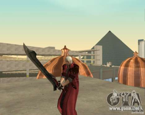 Nero sword from Devil May Cry 4 pour GTA San Andreas