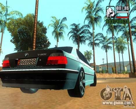 BMW 740i pour GTA San Andreas vue de droite