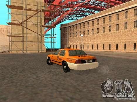 Ford Crown Victoria San Francisco Cab für GTA San Andreas rechten Ansicht