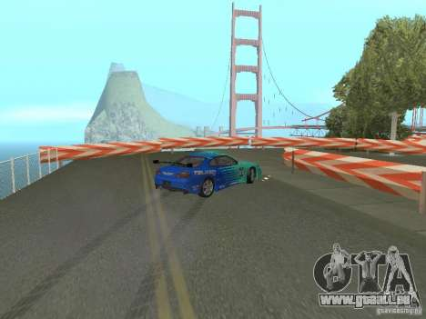 New Drift Track SF pour GTA San Andreas cinquième écran