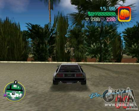 DeLorean DMC 12 für GTA Vice City Innenansicht