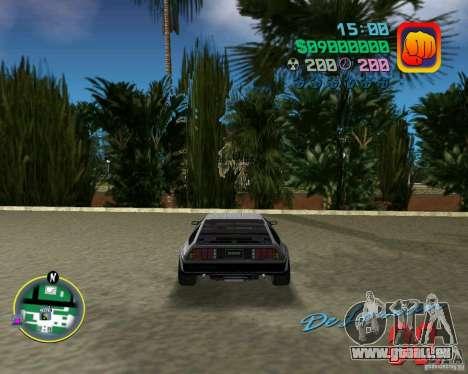 DeLorean DMC 12 pour une vue GTA Vice City de l'intérieur