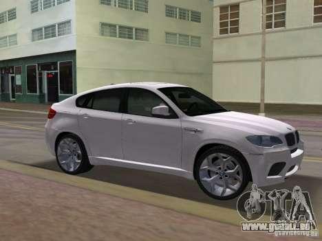 BMW X6M pour GTA Vice City vue arrière