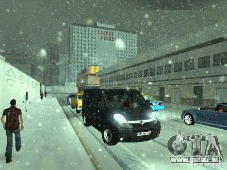 Vauxhall Vivaro v0.1 pour GTA San Andreas laissé vue